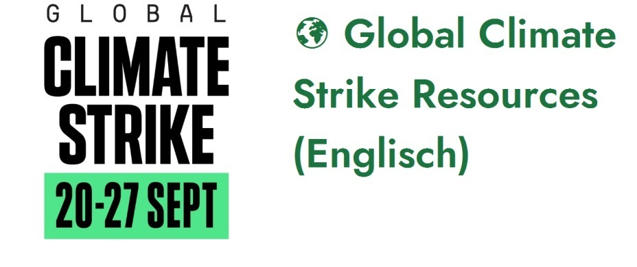 Global Climate Strike Resources (Englisch)